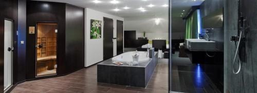 Hotelkamer met jacuzzi in Japanse stijl